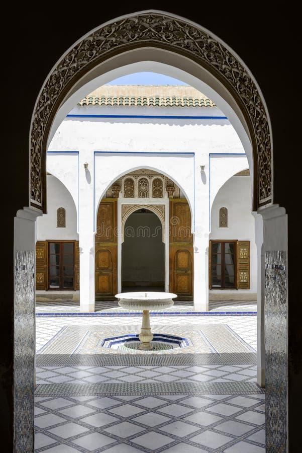 Kuchenki hoodEl Bahia pałac obrazy royalty free