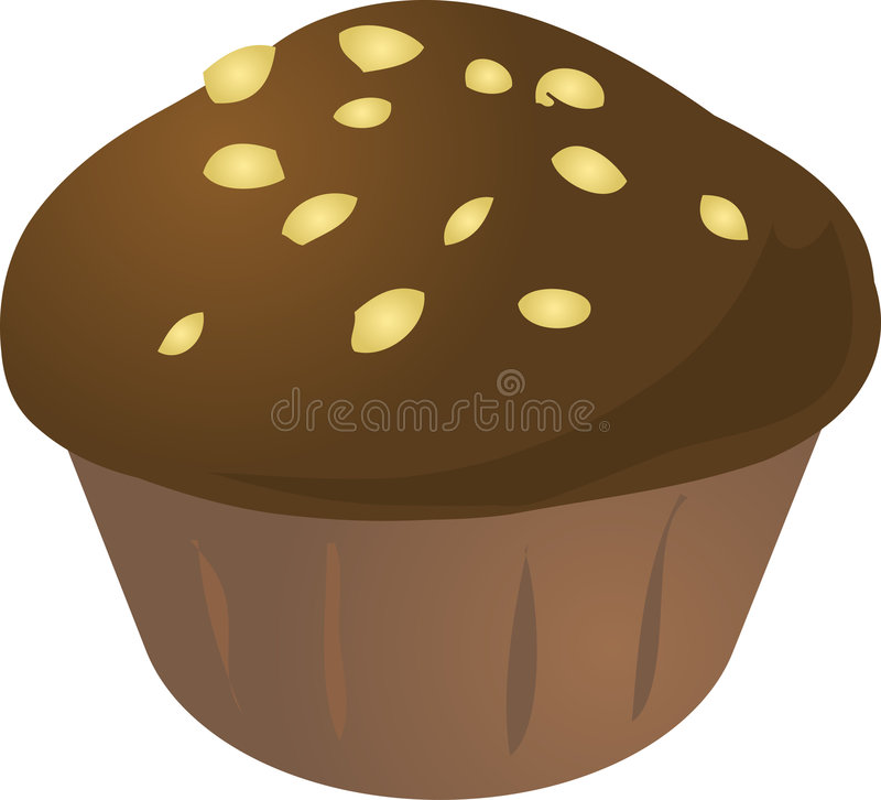 Kuchenmuffin stock abbildung