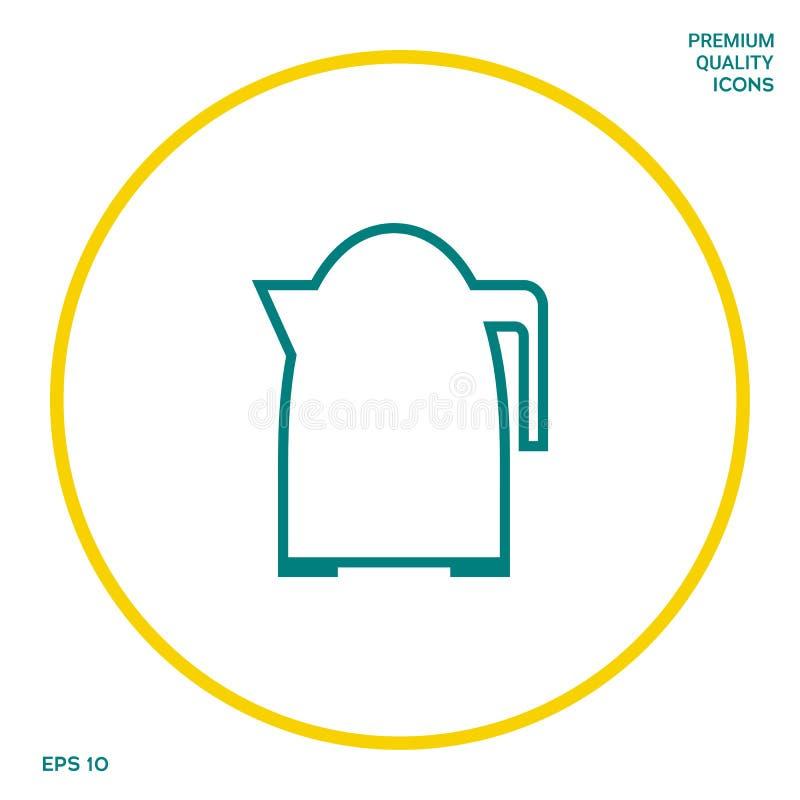 Kuchenna czajnik linii ikona Graficzni elementy dla twój projekta royalty ilustracja