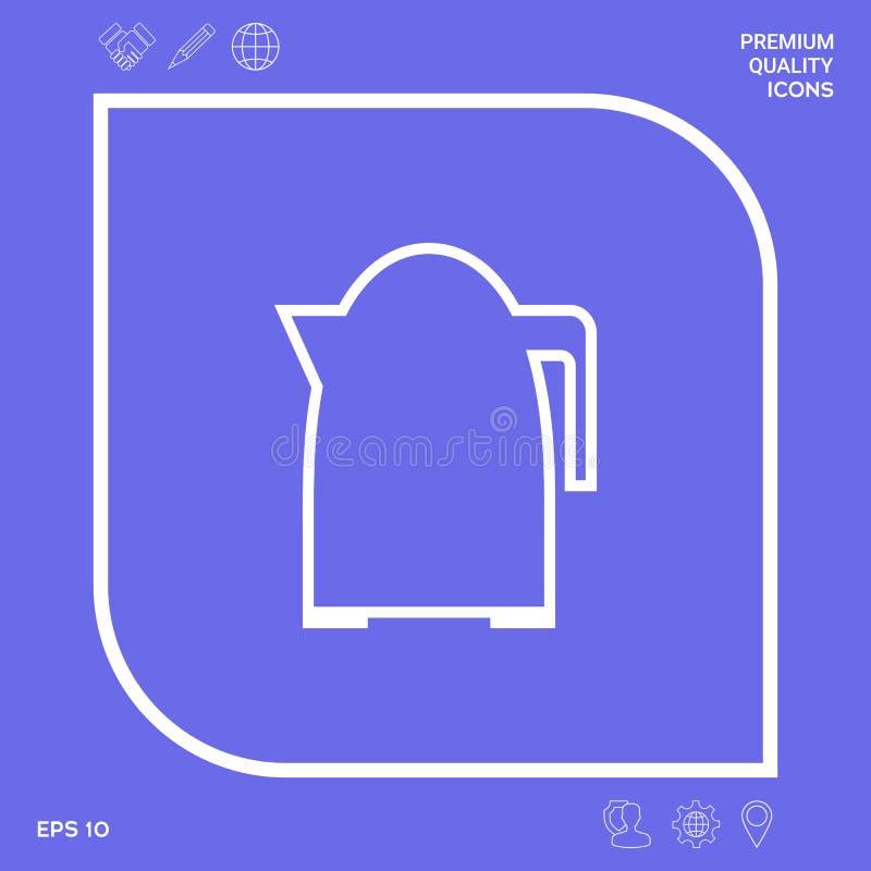 Kuchenna czajnik linii ikona Graficzni elementy dla twój projekta ilustracja wektor