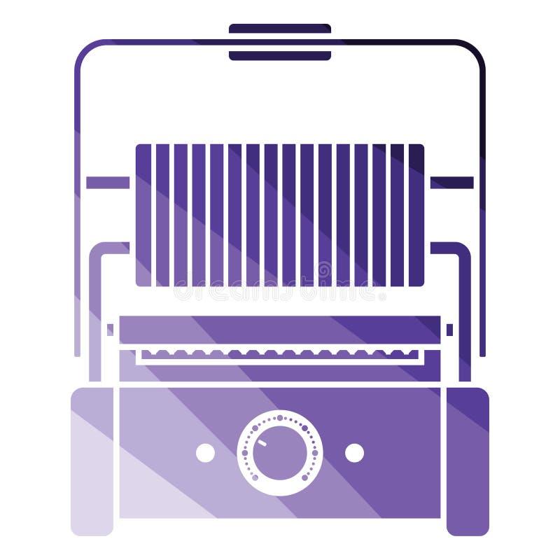 Kuchenna elektryczna grill ikona ilustracji