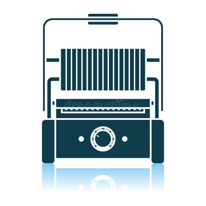 Kuchenna elektryczna grill ikona ilustracja wektor