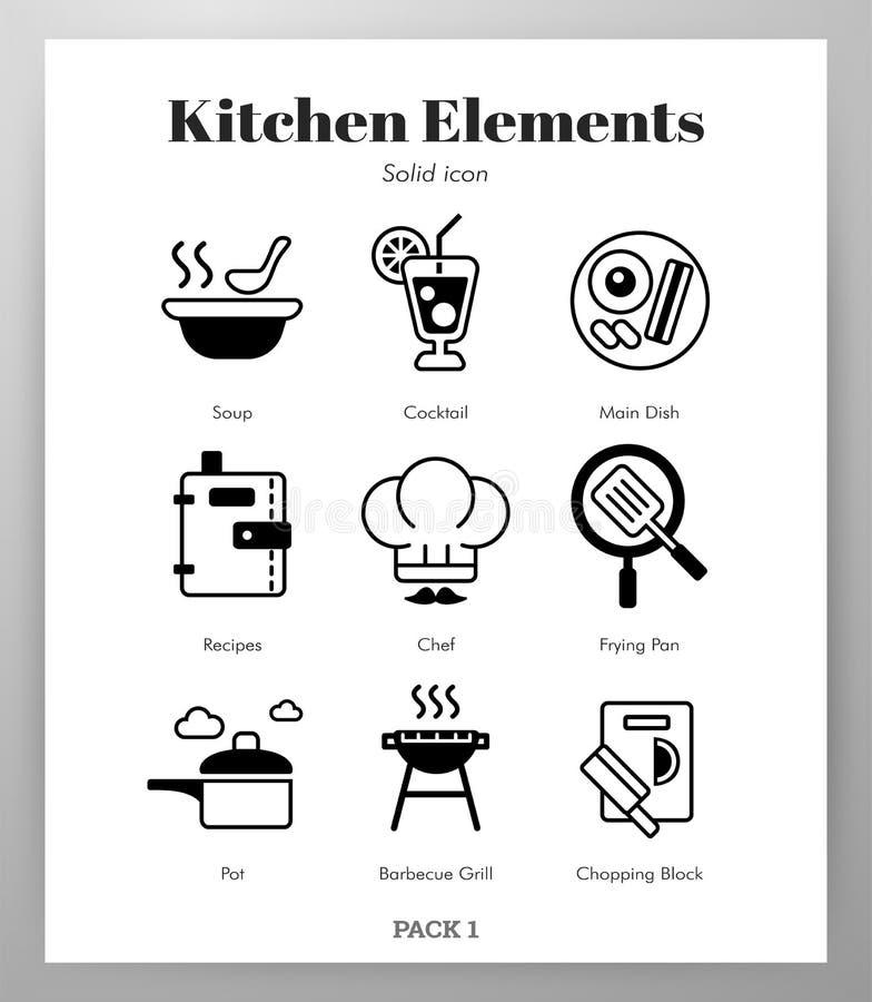 Kuchenna element bry?y paczka ilustracji