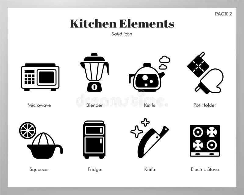 Kuchenna element bry?y paczka ilustracja wektor