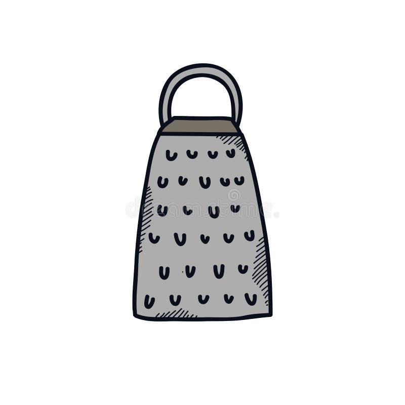 Kuchenna grater doodle ikona ilustracji