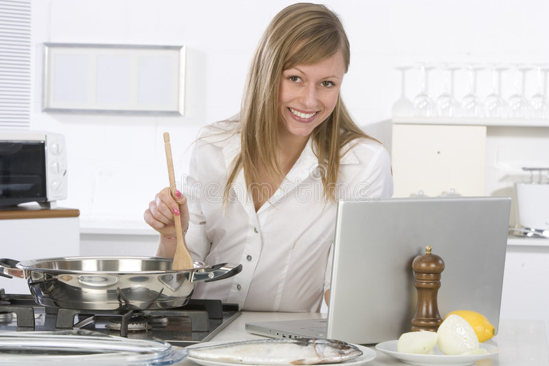 kuchenna kobieta fotografia royalty free