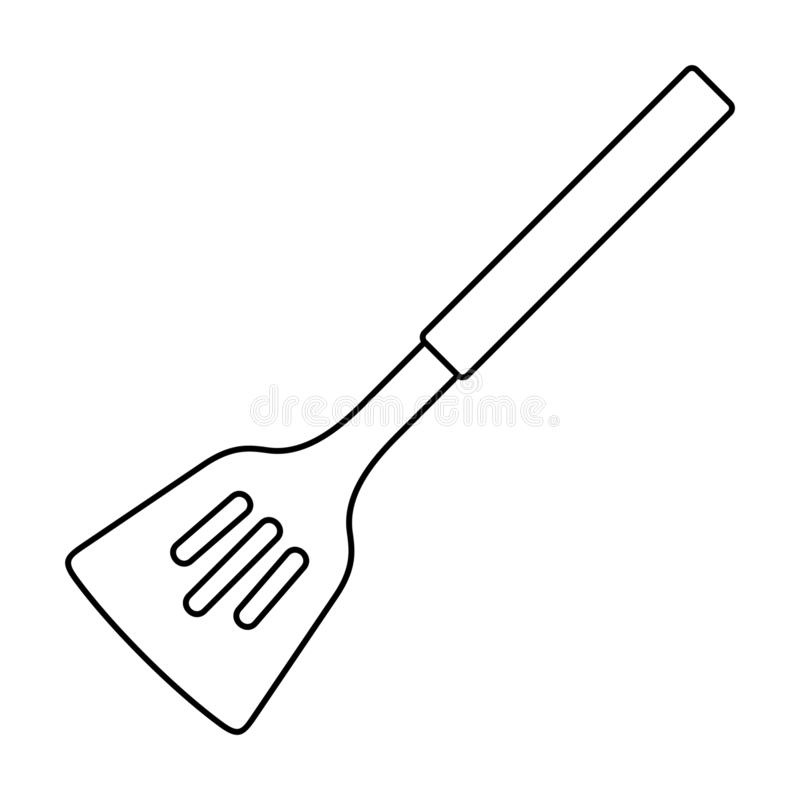 Kuchenna szpachelki ikona ilustracji