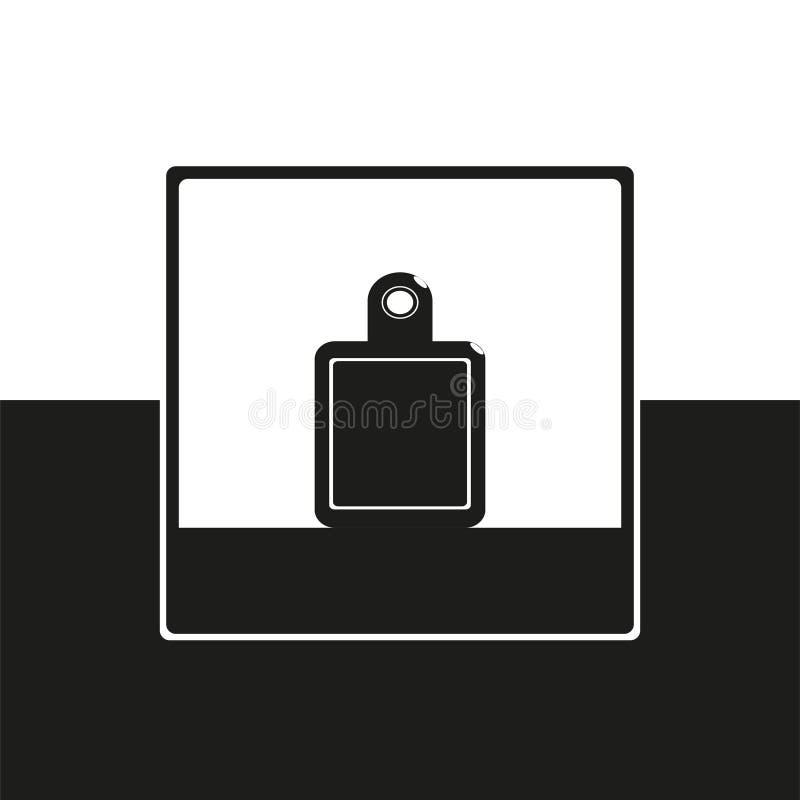 Kuchenna tnąca deska Wektorowa ikona w czarny i biały formie ilustracja wektor