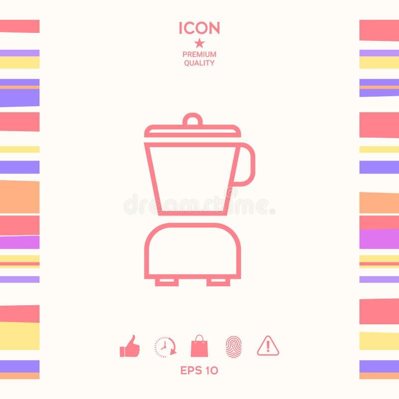 Kuchennego blender liniowa ikona royalty ilustracja