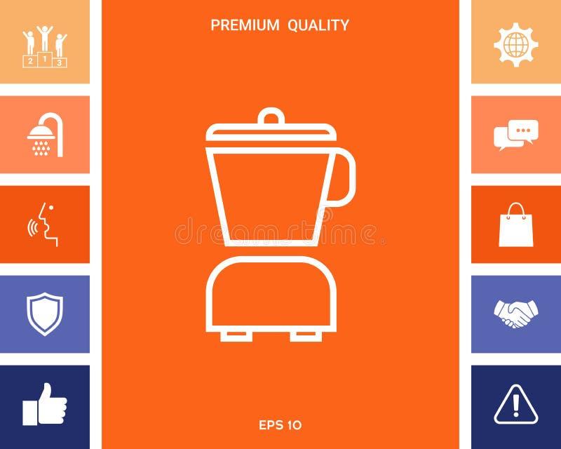 Kuchennego blender liniowa ikona ilustracja wektor