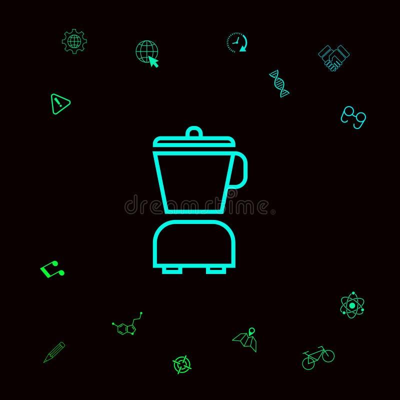 Kuchennego blender liniowa ikona Graficzni elementy dla twój designt ilustracji