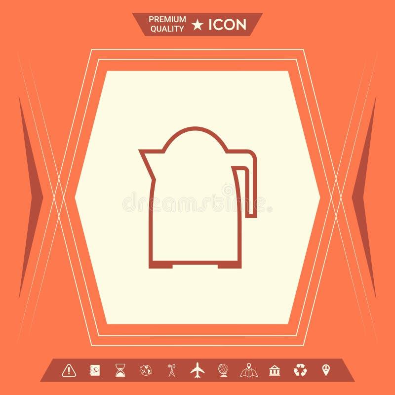 Kuchennego czajnika liniowa ikona royalty ilustracja