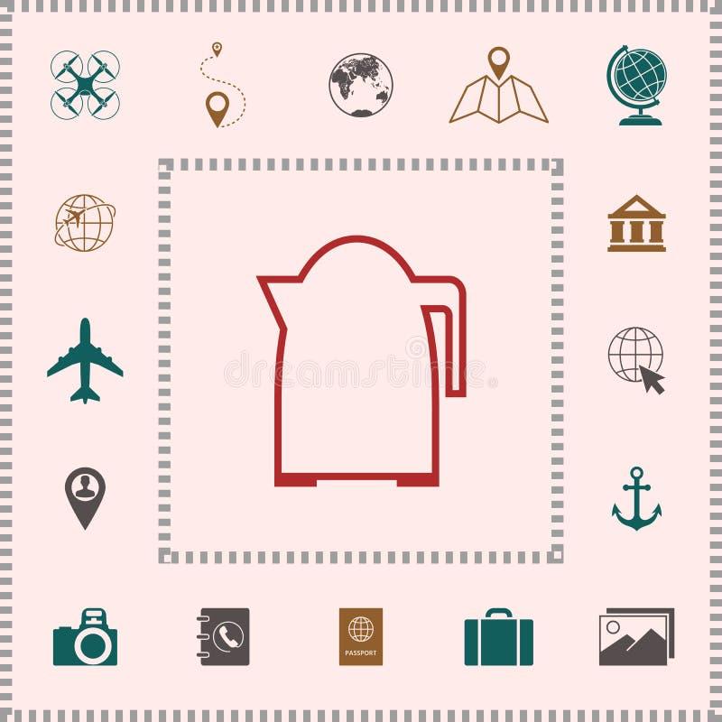 Kuchennego czajnika liniowa ikona elementy projektów galerii ikony widzą odwiedzić twój więcej moich piktogramy proszę ilustracji