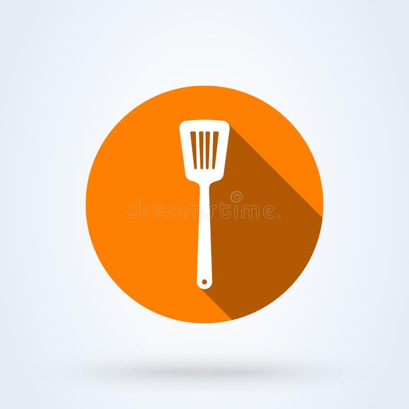 Kuchennej szpachelki ikony projekta Prosta wektorowa nowożytna ilustracja ilustracji
