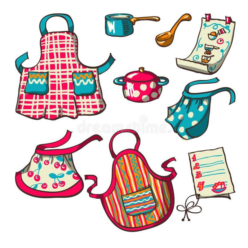 Kuchenni fartuchy ilustracja wektor