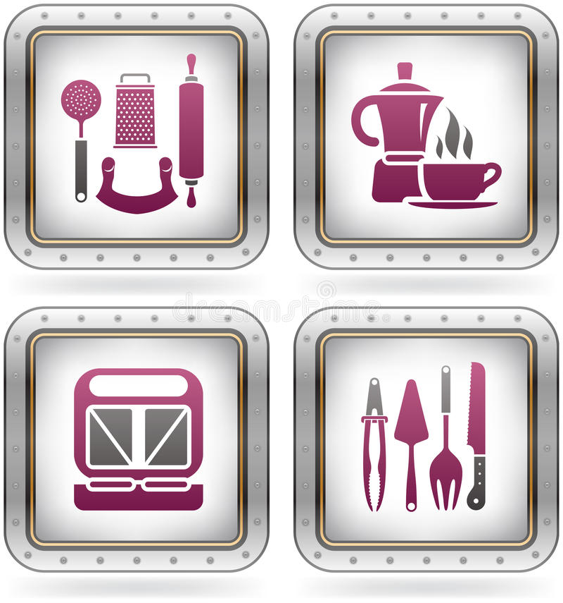 kuchenni naczynia ilustracja wektor