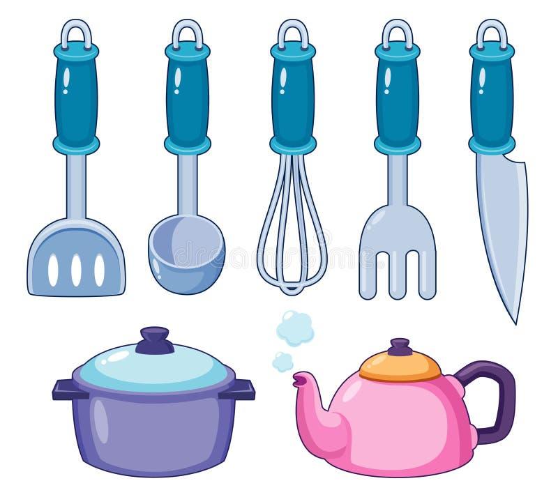 Kuchenni narzędzia   ilustracji