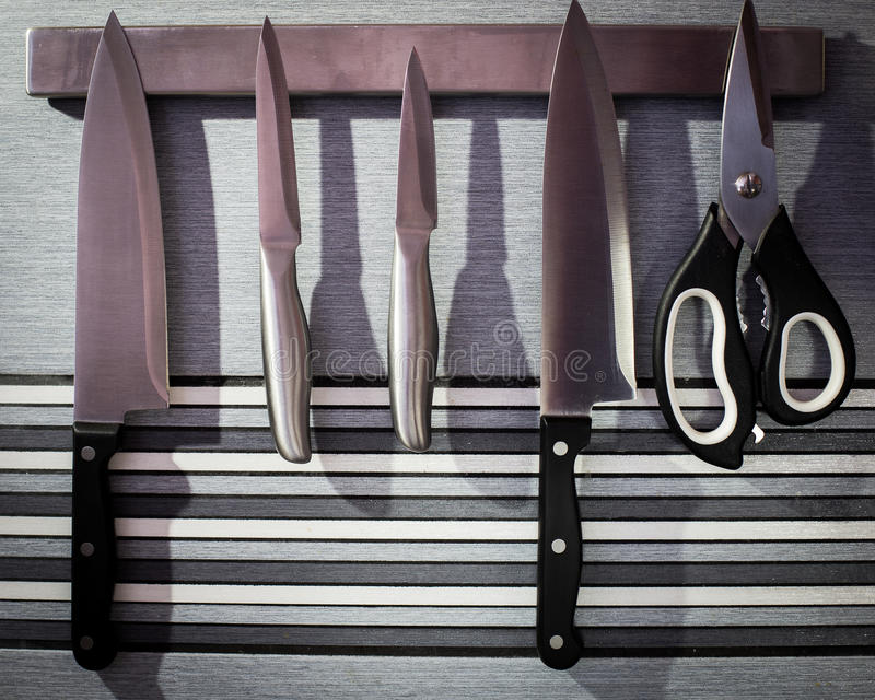 Kuchenni noże zdjęcia royalty free