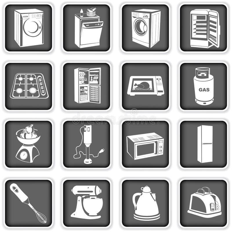 Kuchenni urządzenia ilustracja wektor