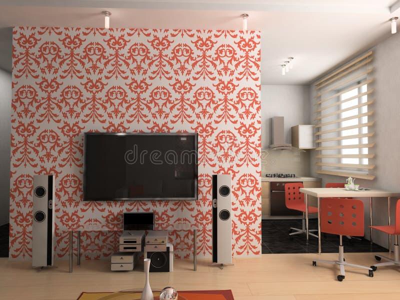 kuchenny żywy pokój royalty ilustracja