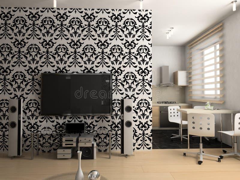 kuchenny żywy pokój ilustracja wektor