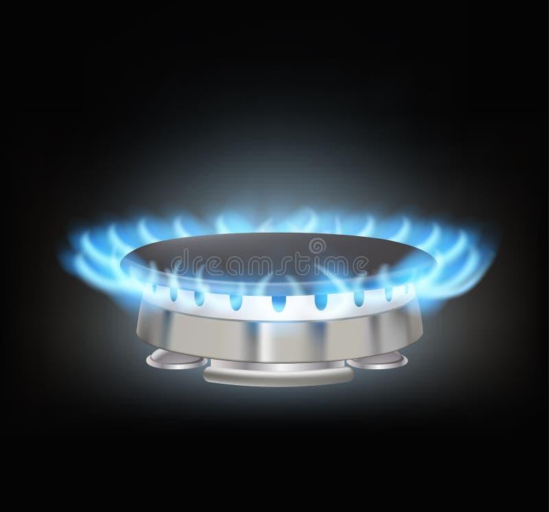 Kuchenny benzynowy palnik ilustracji