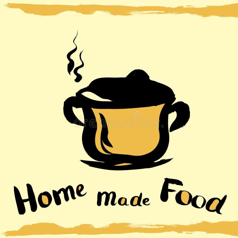 Kuchenny garnek ilustracji