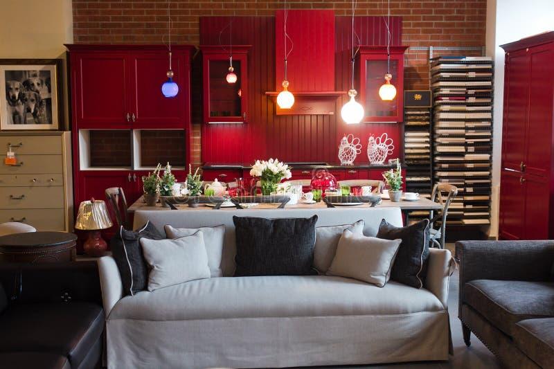 Kuchenny izbowy meblarski sklep obrazy royalty free