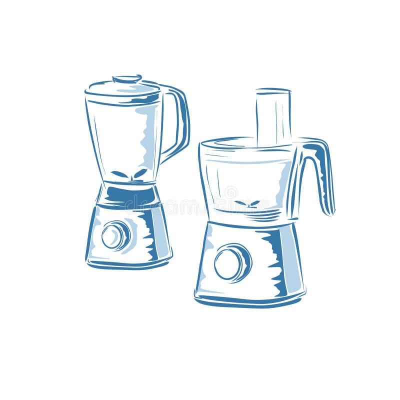 Kuchenny melanżer ilustracji