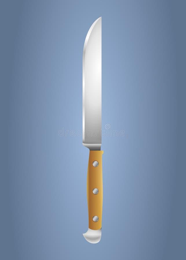 Kuchenny nożowego ostrza przedmiot royalty ilustracja