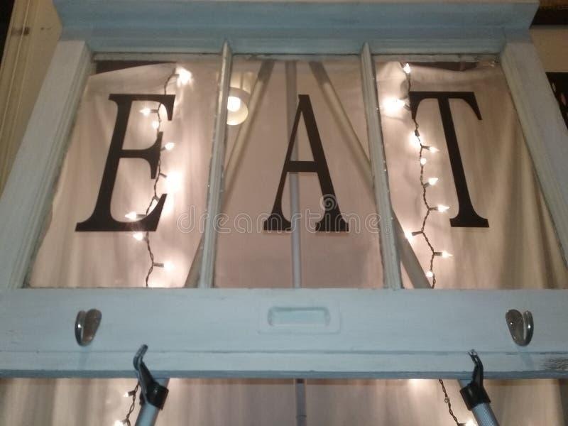 Kuchenny okno ściany wystrój zdjęcie royalty free
