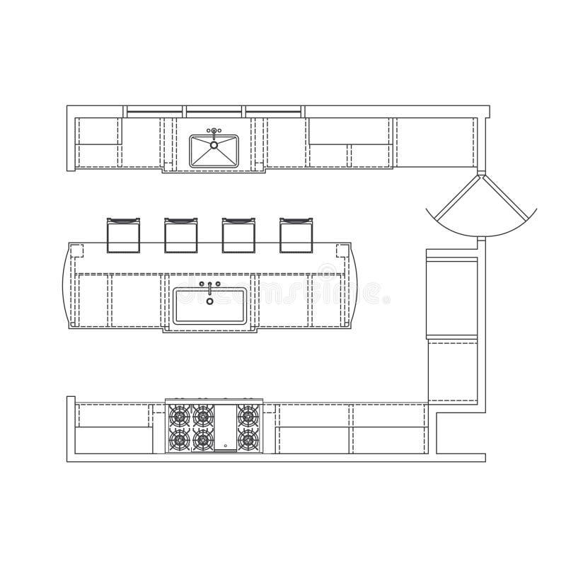 kuchenny plan royalty ilustracja