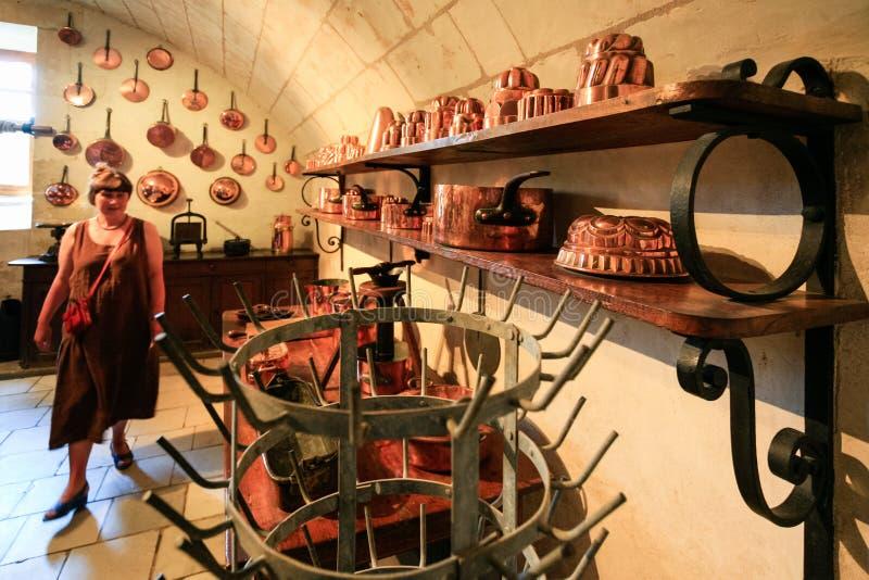 Kuchenny pokój grodowa Górska chata De Chenonceau zdjęcia stock