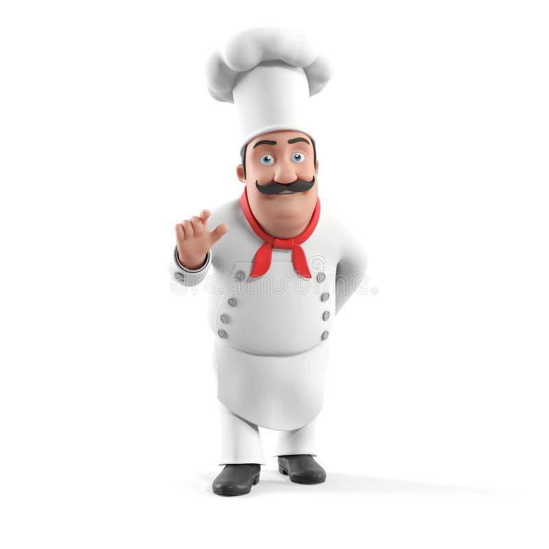 Kuchenny szef kuchni ilustracji