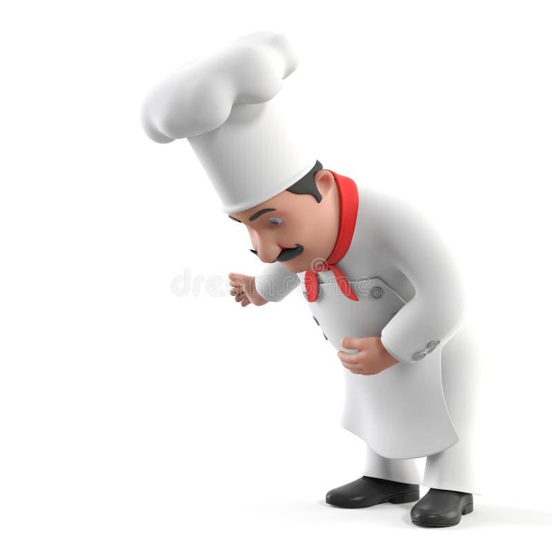 Kuchenny szef kuchni royalty ilustracja