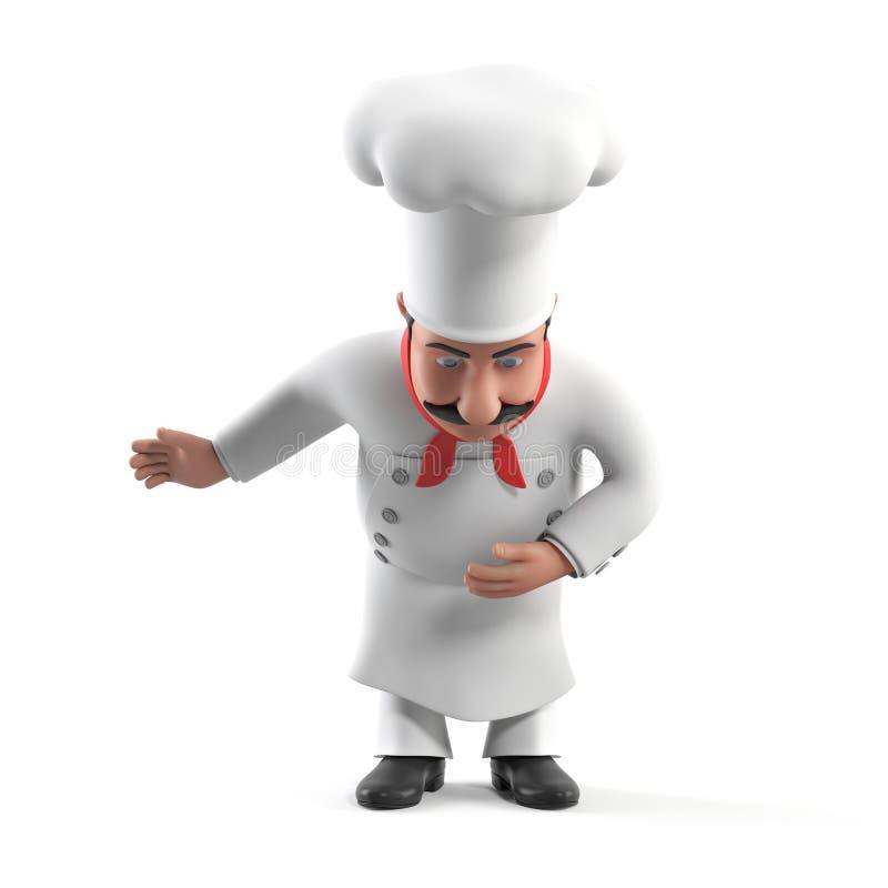 Kuchenny szef kuchni ilustracja wektor