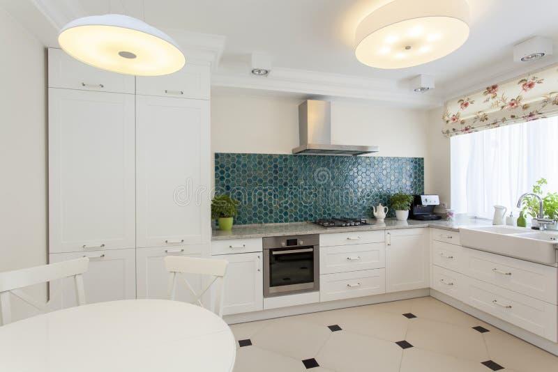 Kuchenny wnętrze zdjęcie royalty free