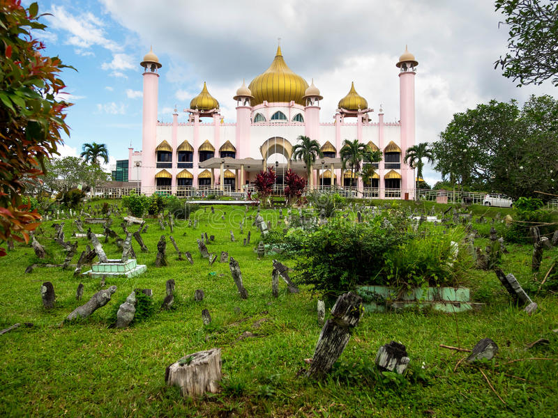 Kuching miasta meczet w Kuching, Sarawak, Malezja zdjęcie royalty free