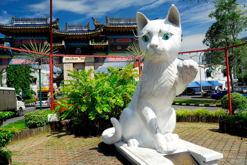 Kuching Południowa Rada Miasta Kota Statua obrazy royalty free