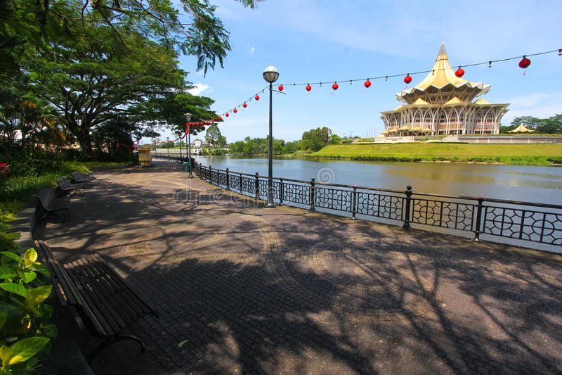 Download Kuching Riverside Park , Sarawak, Malaysia Stock Photo - Image: 37530420