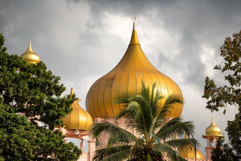 Kuching City Mosque. Kuching, Sarawak, Malaysia, January 4, 2019: View from the Sarawak River of the Kuching City Mosque, affectionately known as Masjid Lama Old royalty free stock photography