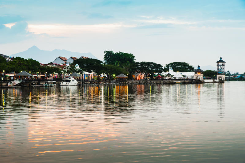 Download Kuching Waterfront stock photo. Image of trees, asia - 26654366