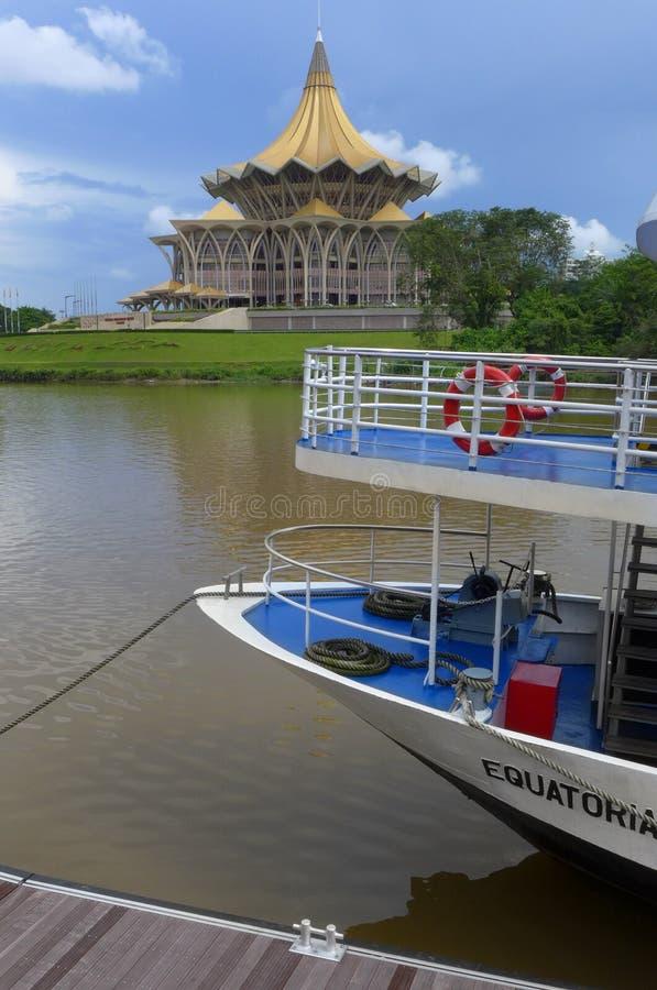 Kuching waterfront cruise boat