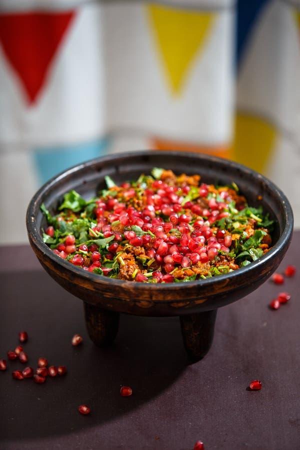 Kuchmachi - traditionell georgisk maträtt av avfall arkivfoto