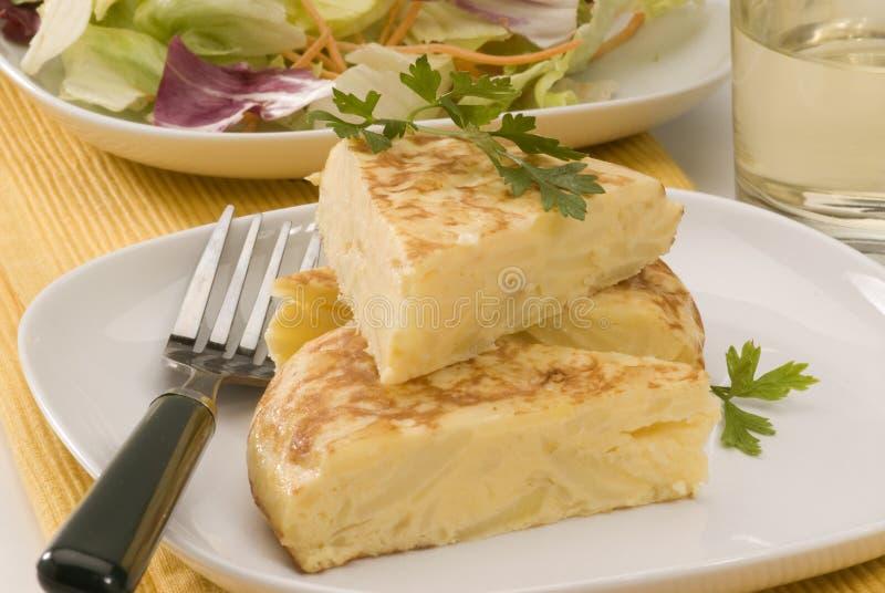 kuchni omletu grule hiszpańskie zdjęcie stock