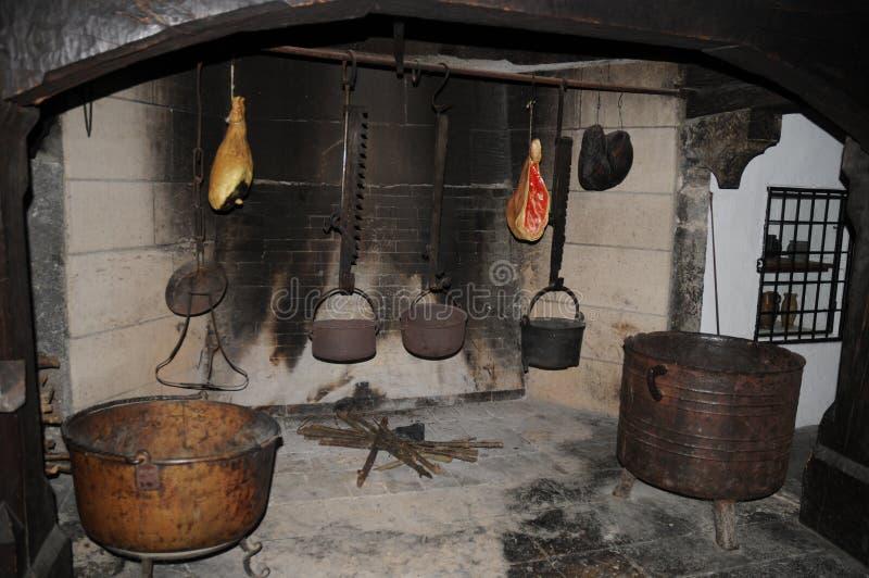 kuchnia średniowieczna fotografia royalty free