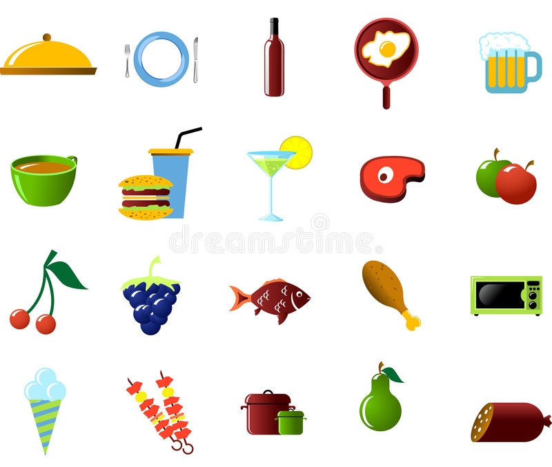 kuchnia żywności przedmiotów, ilustracji