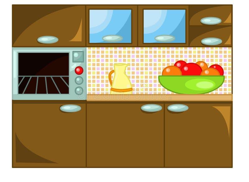 Download Kuchnia ilustracji. Obraz złożonej z biały, nakreślenie - 13141553