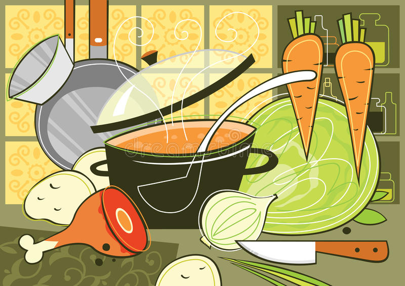 kuchnia ilustracja wektor