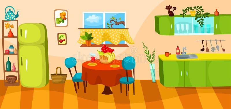kuchnia ilustracji